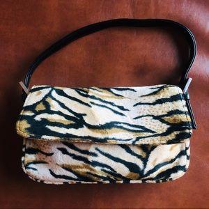 Vintage Warehouse Soft Tiger Print Handbag Leopard
